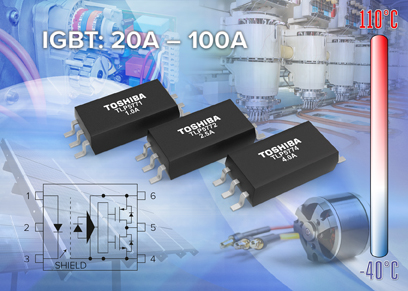 Toshiba launches low-input current drive, rail-to-rail output gate-drive photocouplers