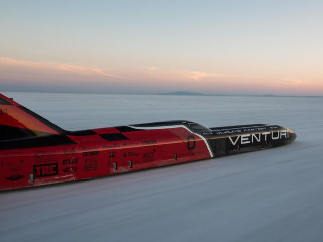 Ohio State's all-electric Venturi Buckeye Bullet 3 sets new landspeed record