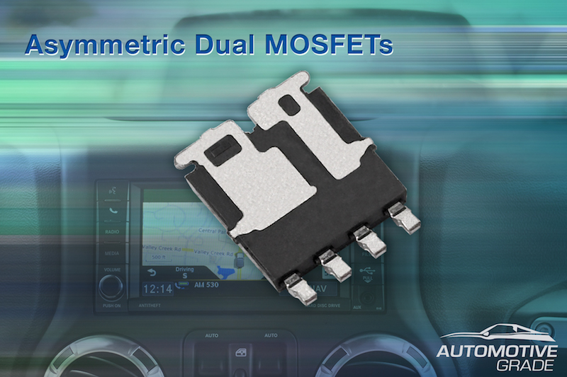 Vishay's dual-asymmetric-packaged MOSFETs for automotive now at Rutronik