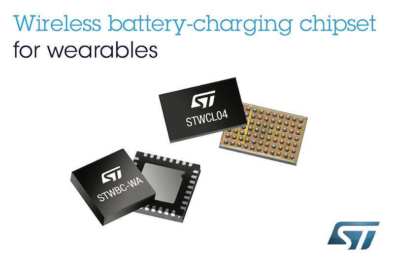 STMicro's wireless charging chipset enables smaller, simpler, sealed wearables