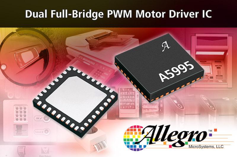 Allegro's dual full-bridge PWM motor driver IC saves PCB space