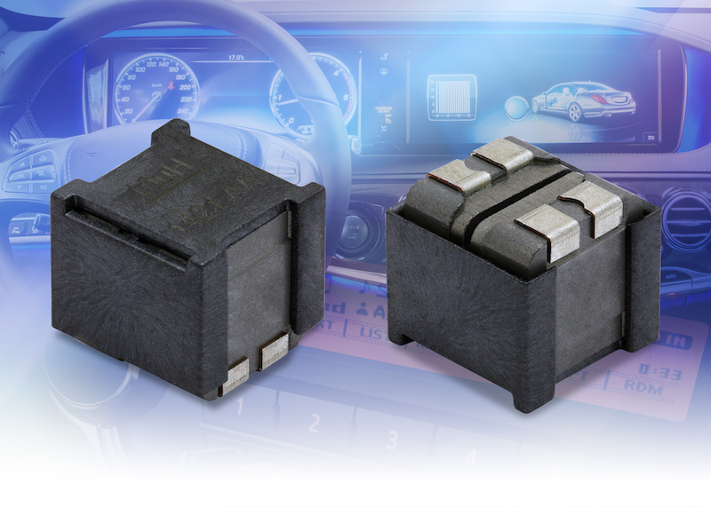 Vishay's hi-temp automotive-grade dual inductors now at TTI