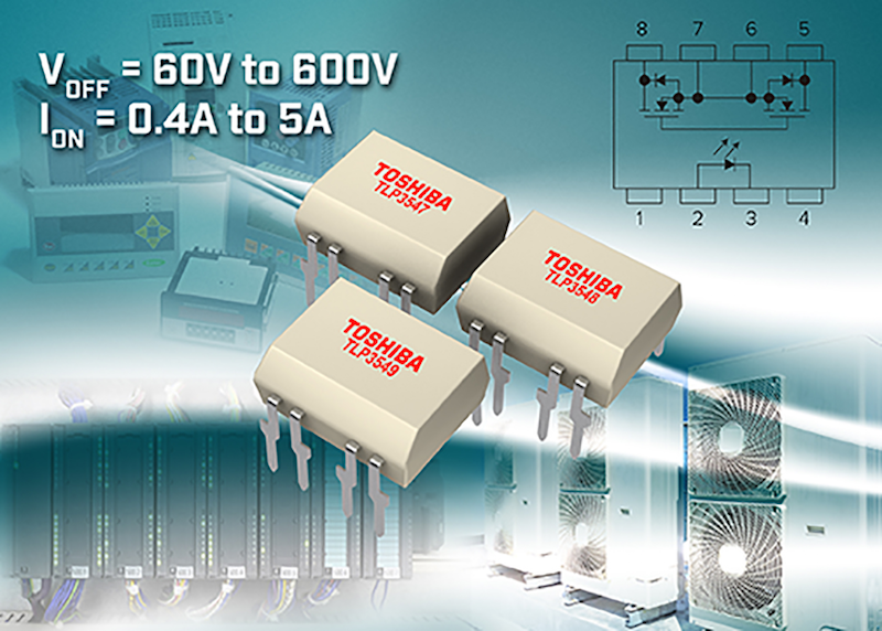 Toshiba unveils photorelays with up to 5A drive current