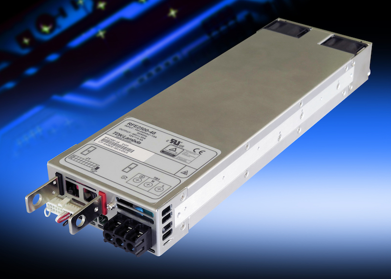 TDK's 2500W 1U industrial supplies offer PMBus fuunctionality