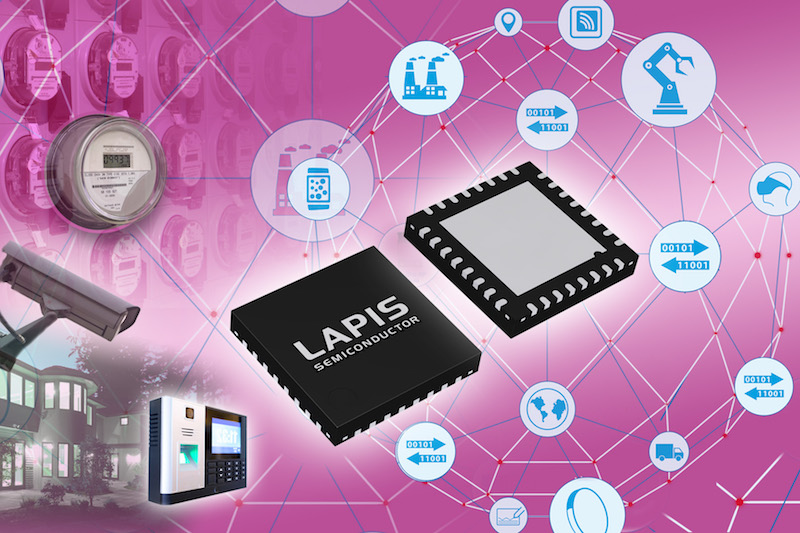 Sub-GHz wireless comm LSI optimized for applications requiring low power consumption