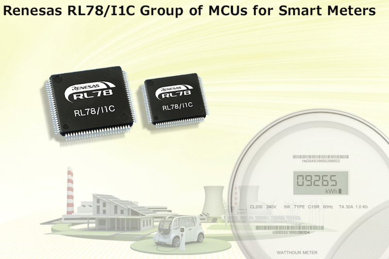 Renesas' RL78/I1C microcontrollers support international standards (DLMS) for smart meters