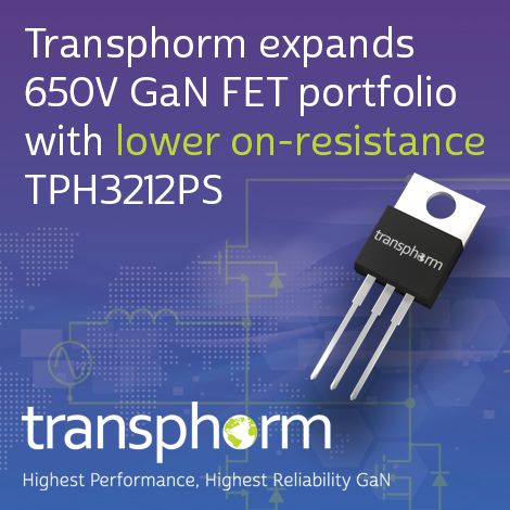 Transphorm launches 72mΩ TO-220 GaN FET