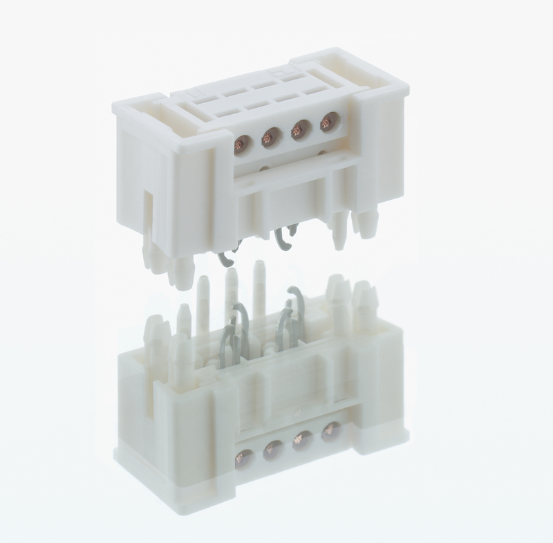 Lumberg's reversible direct connectors mate anywhere on the board
