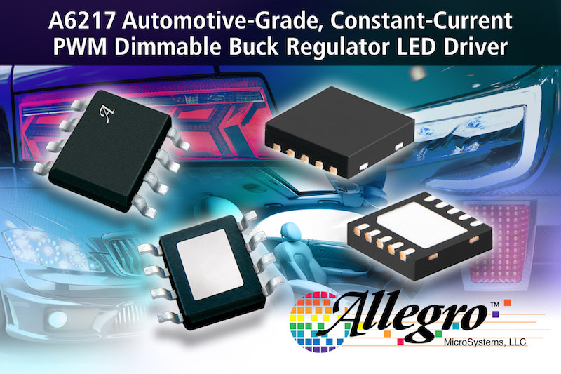 Allegro offers automotive constant-current PWM dimmable LED driver