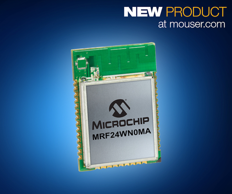 Microchip's latest low-power wireless modules now at Mouser