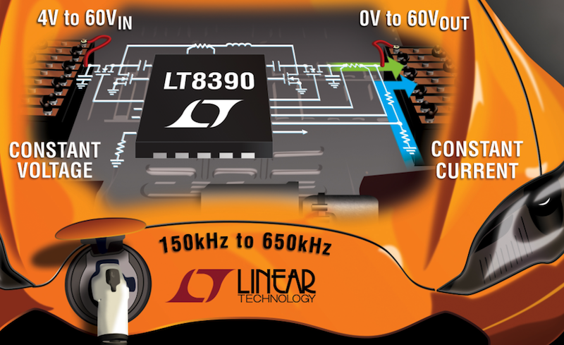 Linear's 60V synchronous 4-switch buck-boost controller offers spread spectrum