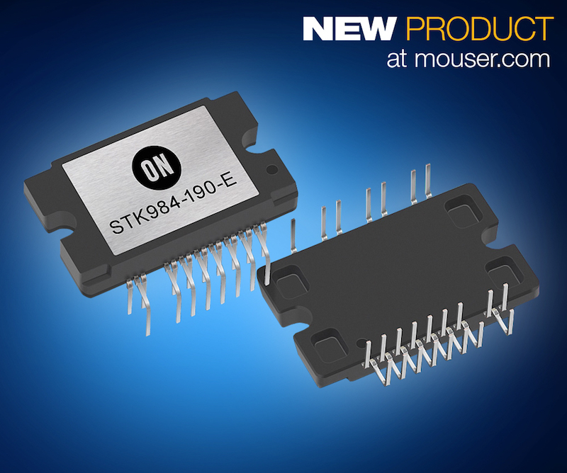 ON Semi's STK984-190-E BLDC Motor driver now at Mouser