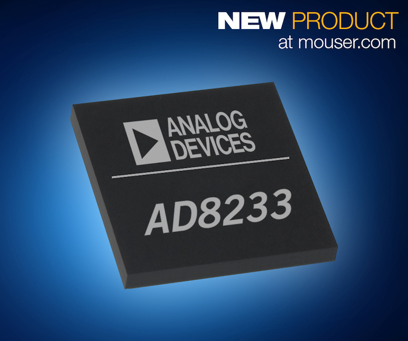 Analog Devices' AD8233 AFE for medical wearables now at Mouser