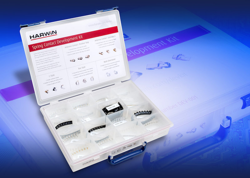 Harwin launches EZ-Boardware SMT spring-contact dev kit