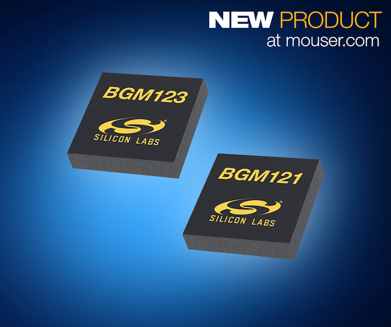 Silicon Labs' tiny BGM12x SiP modules for Bluetooth LE now at Mouser