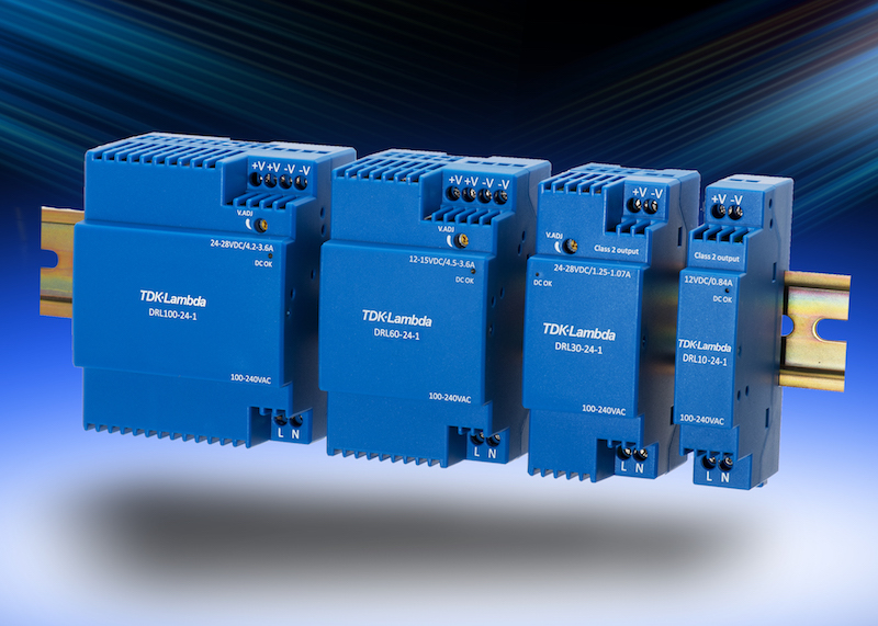 TDK-Lambda's compact supplies use less space on DIN rail