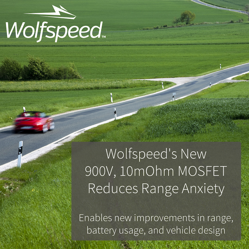 Wolfspeed introduces new SiC MOSFET for EV drivetrains