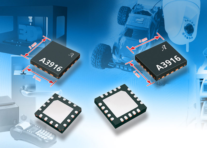 Allegro's A3916 low-voltage bipolar stepper needs only four external components