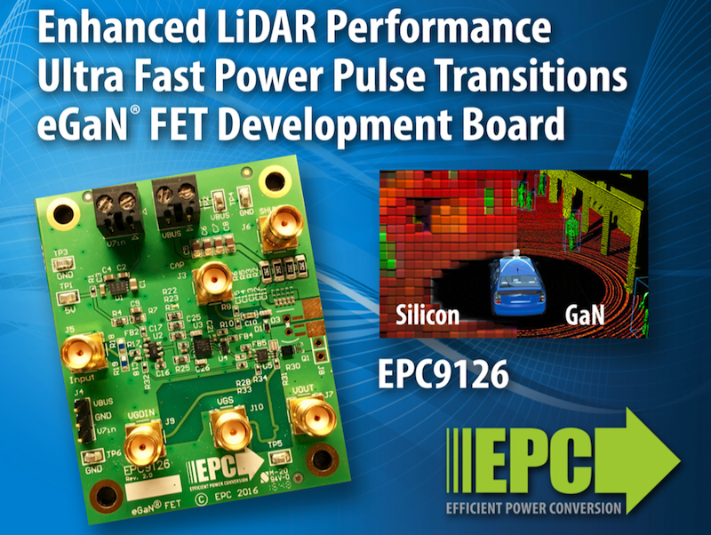 EPC kit uses GaN-driven laser diodes for LiDAR