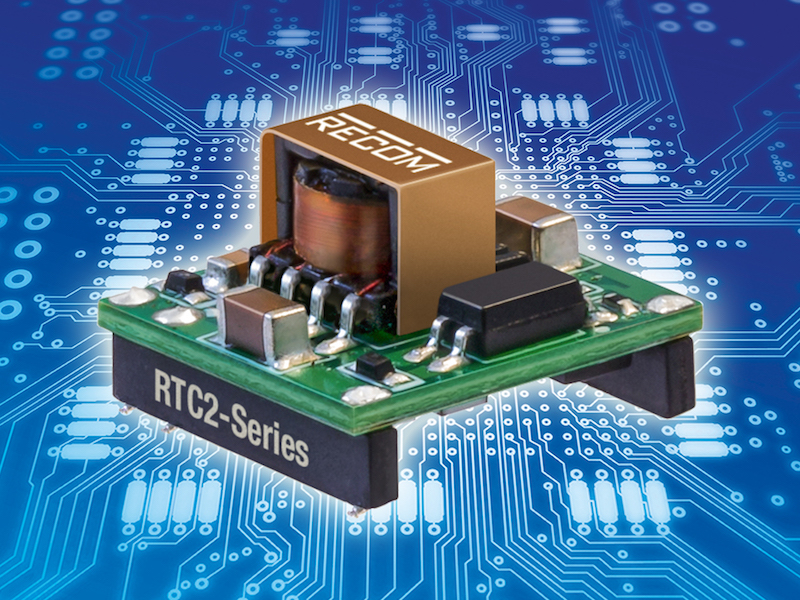 Recom's latest 2W DC/DC converters use less than 1/3 square inches