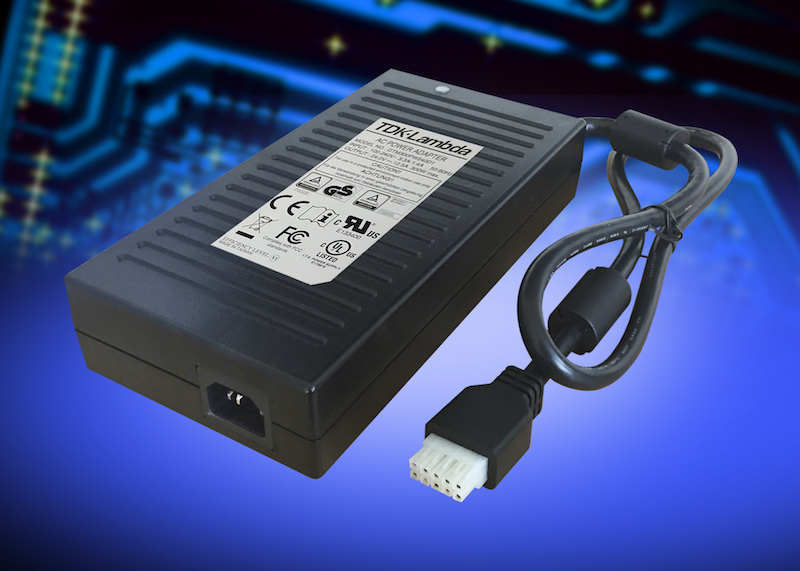 TDK's Level VI efficient medical 300W external supplies offer Class I or Class II inputs