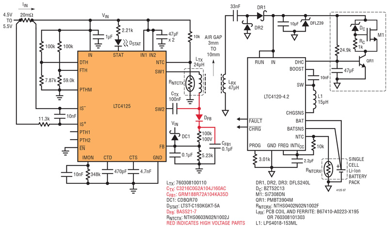 empowering wireless charger design rh powersystemsdesign com Battery Charging Circuit Schematic Lead Acid Battery Charger IC