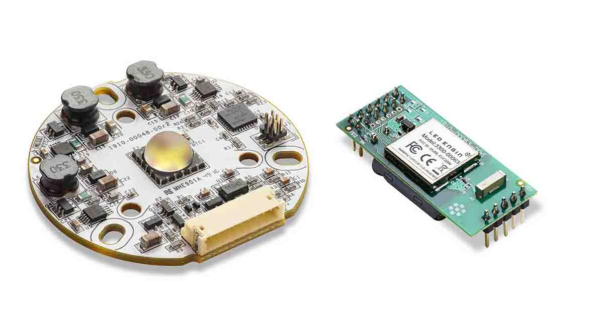 Small tunable-white LED light engine with BLE interface serves smart lighting apps