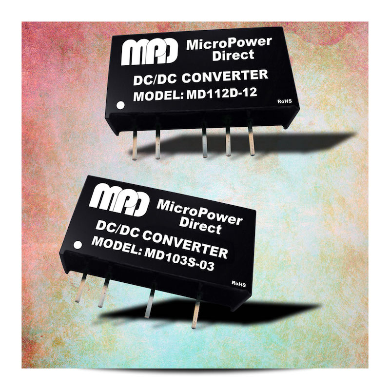 MicroPower Direct's new 1W DC/DC converter family offers 96 models