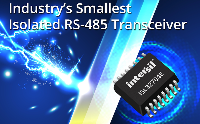 Intersil claims smallest isolated RS-485 transceiver for industrial IoT