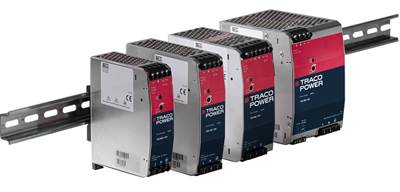 Traco's TIB series DIN-rail supplies tout efficient circuit topology, cost/performance ratio