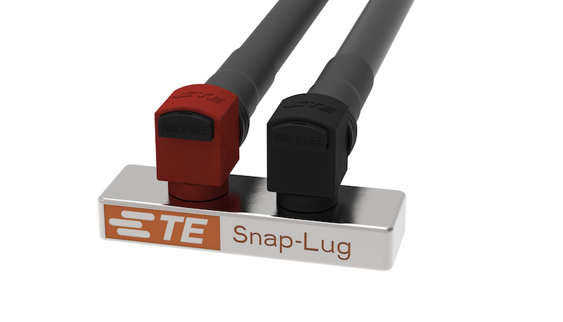 TE Connectivity's Snap-Lug power connectors handle heavy and harsh apps