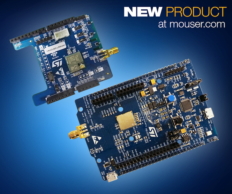 STMicro's STM32 LoRaWAN discovery board now at Mouser