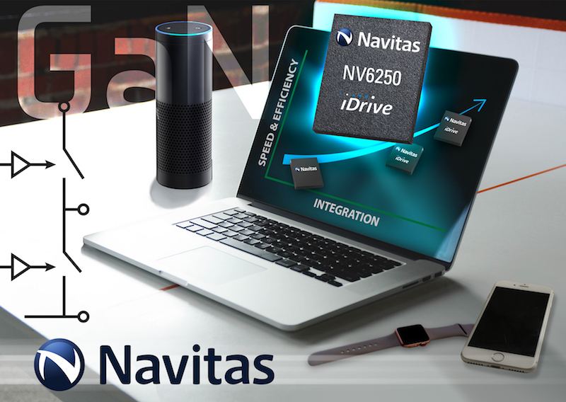 Navitas claims first integrated half-bridge GaN power IC