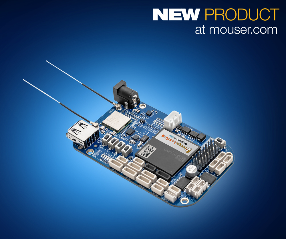 BeagleBone Blue now at Mouser