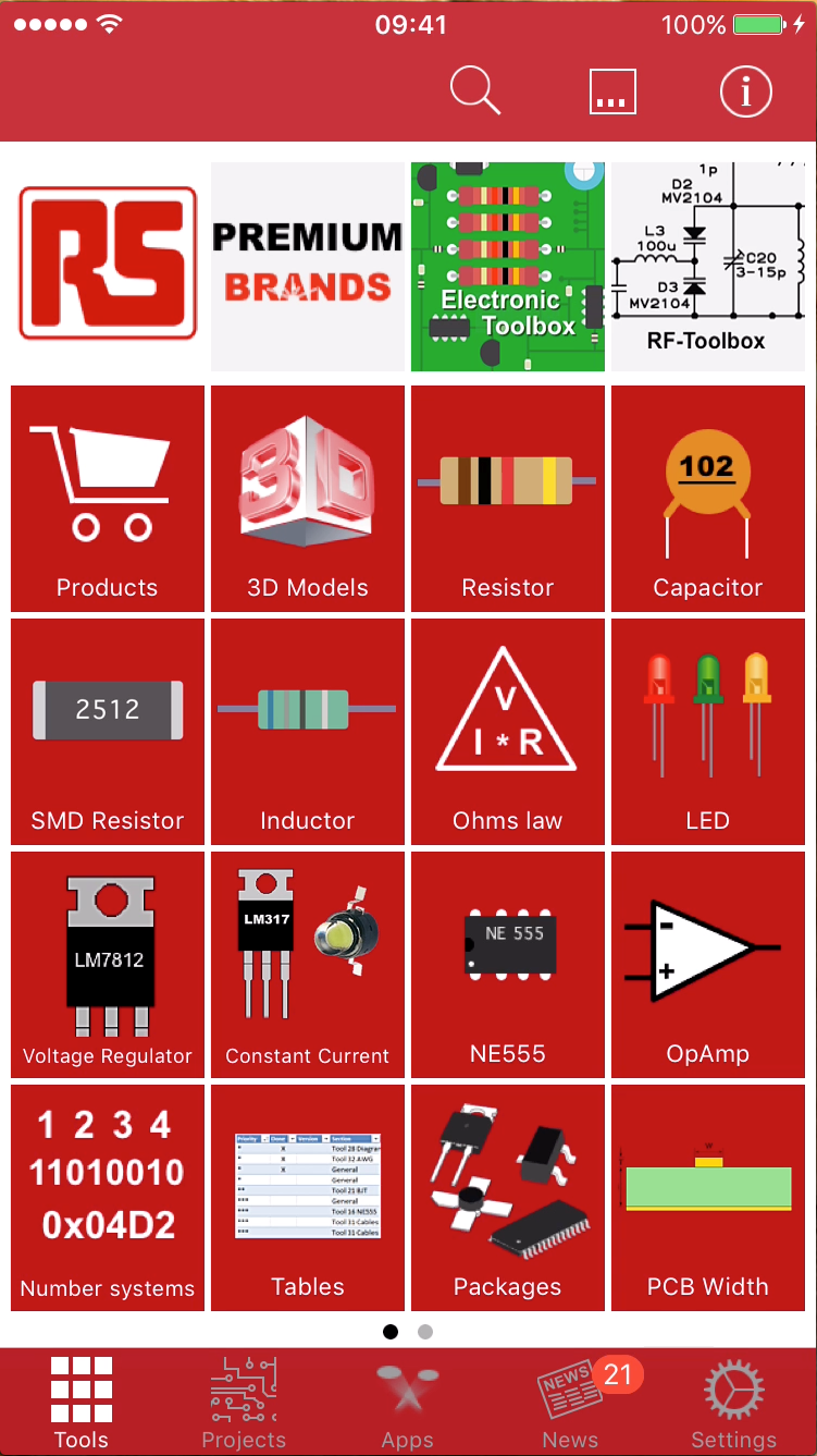Downloads of Toolbox App from RS Components exceeds 60,000