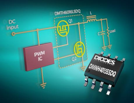 Automotive-Compliant Dual MOSFETs from Diodes Incorporated Minimize Power Losses to Deliver Cost-Effective High-Efficiency Solutions