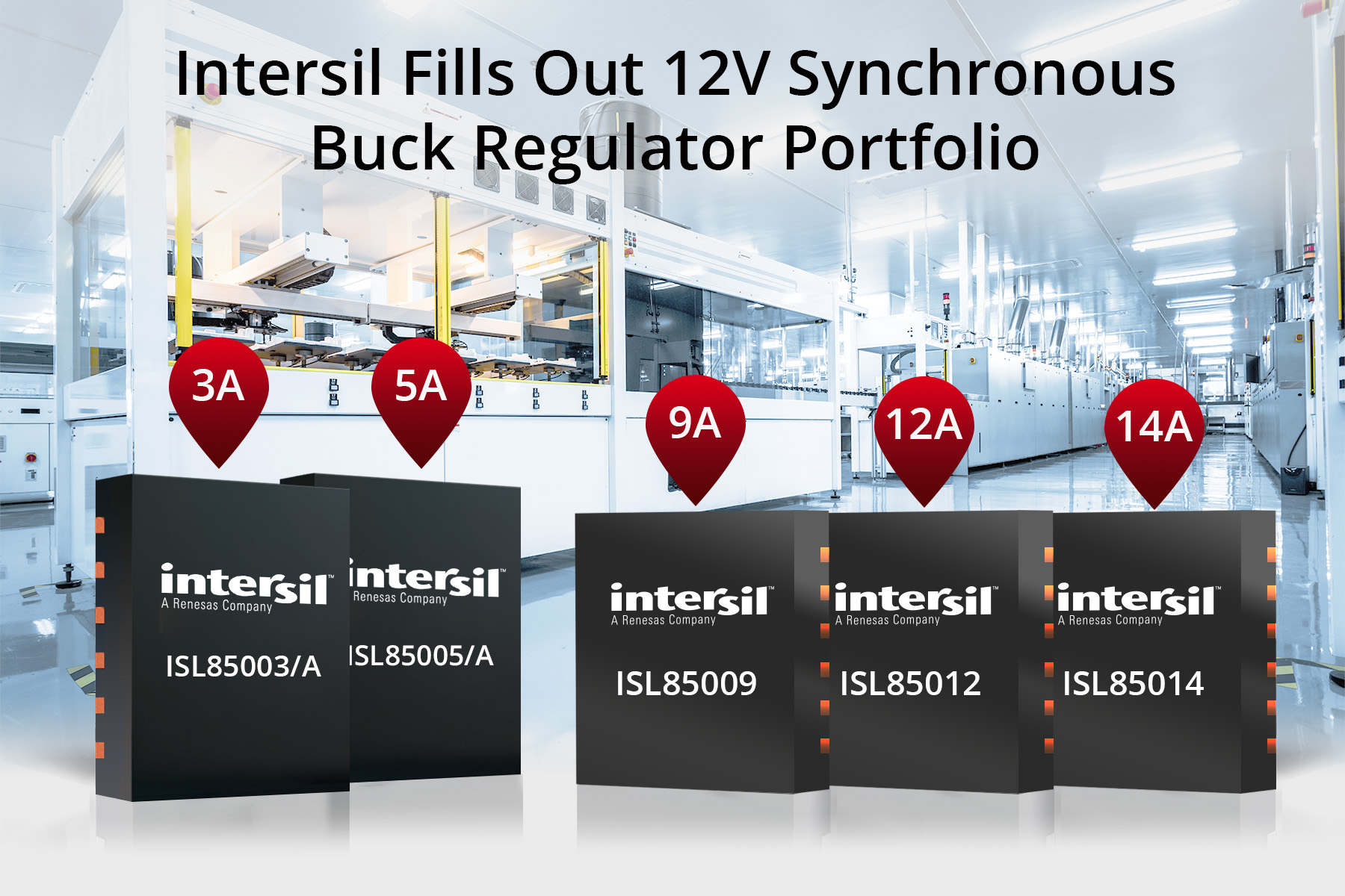Intersil Fills Out 12V Synchronous Buck Regulator Portfolio