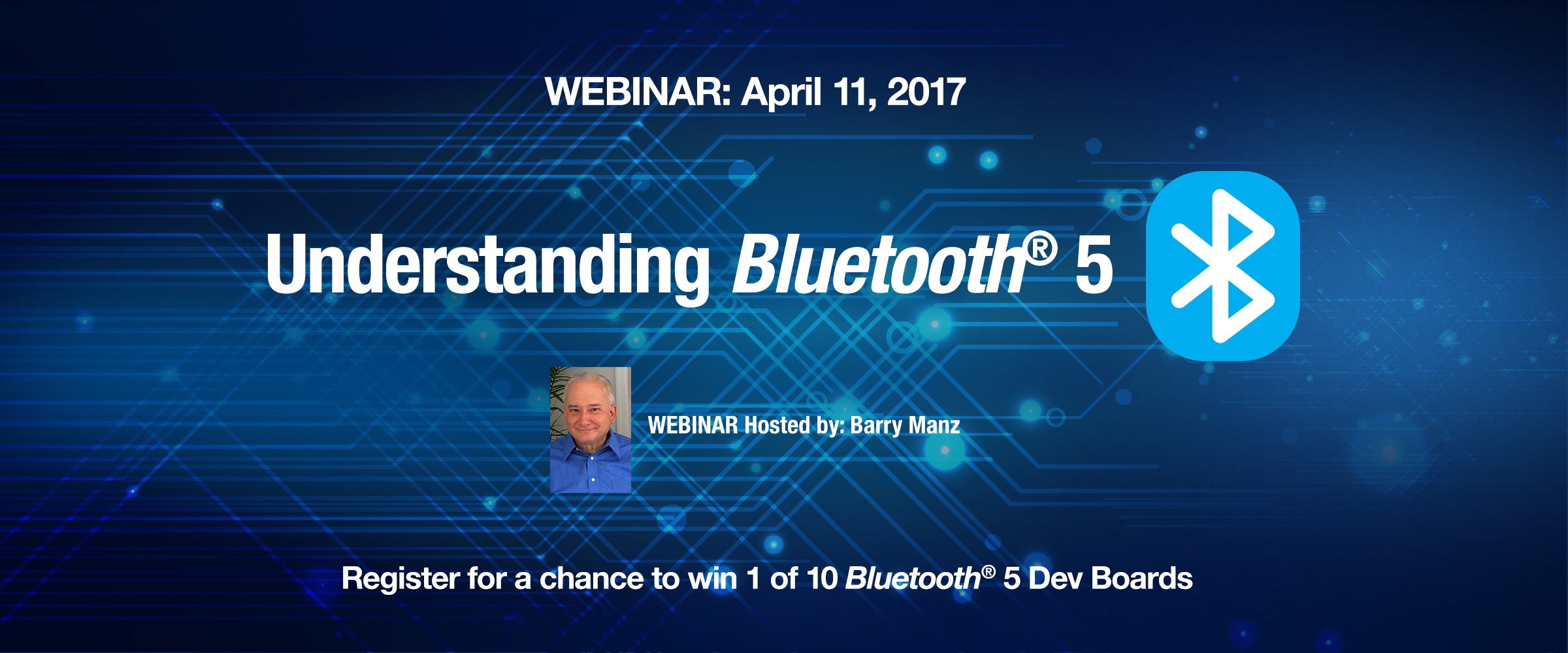 Mouser Electronics to Host Webinar on Bluetooth 5 Developments