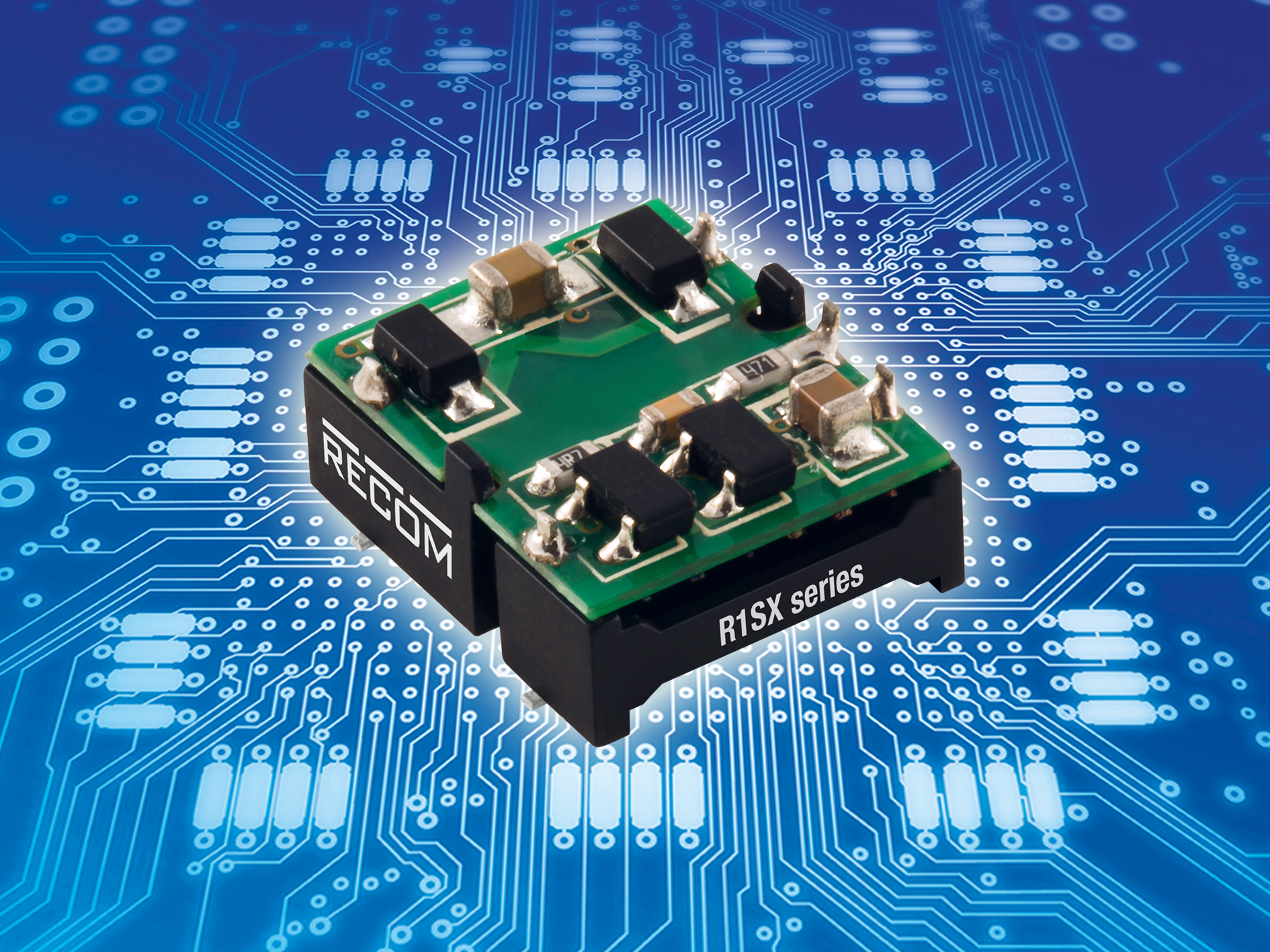Fully-automated manufactured 1W DC/DC converters with low profile