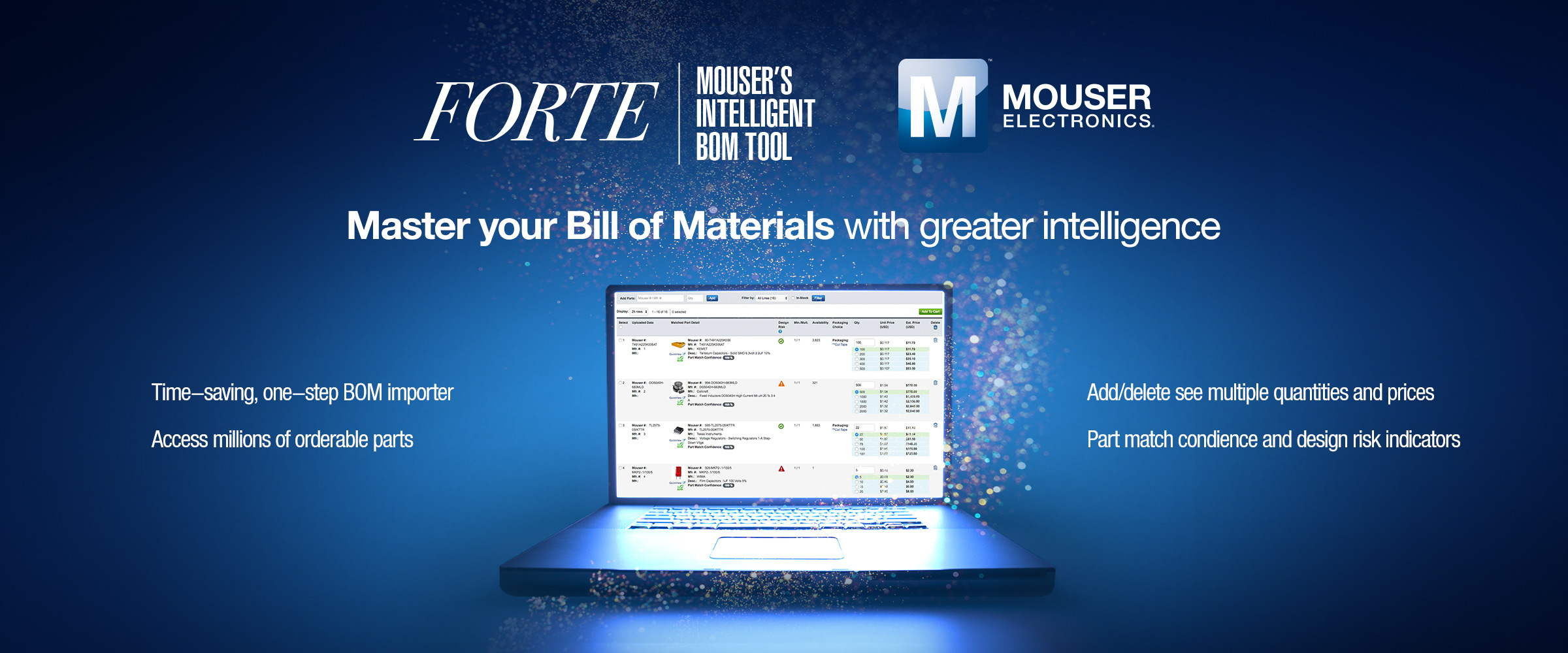 Mouser Unveils FORTE, a Revolutionary New BOM Tool