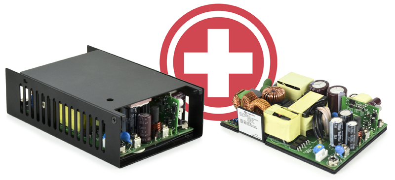 300 W Medical Ac-Dc Power Supply Series Complies with 4th Edition EMC Standards