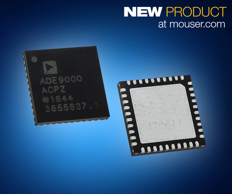 Detect Power Variations with Analog Devices' ADE9000 AFE for Power Quality Monitoring, Now at Mouser