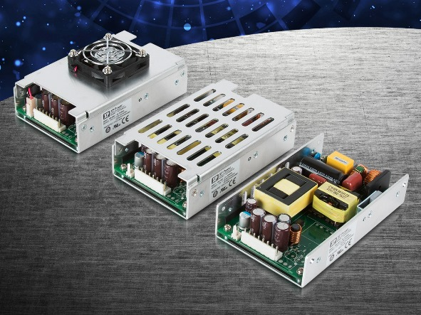 AC/DC Power Supplies Include Both Industrial and Medical Safety Approvals in a Small U-channel Footprint