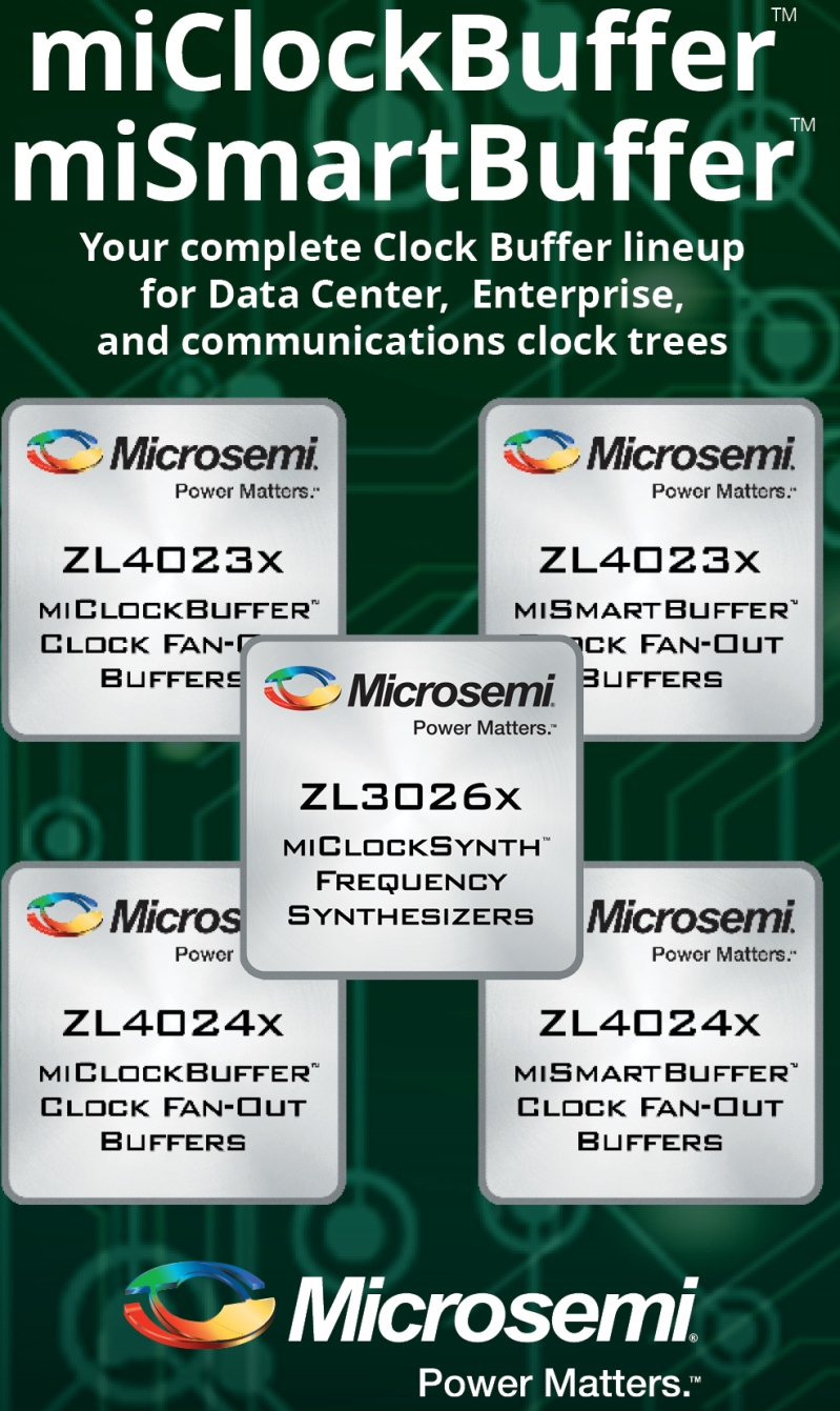 Microsemi Expands Broad Clock Management Fanout Buffer Product Line With Seven New Devices