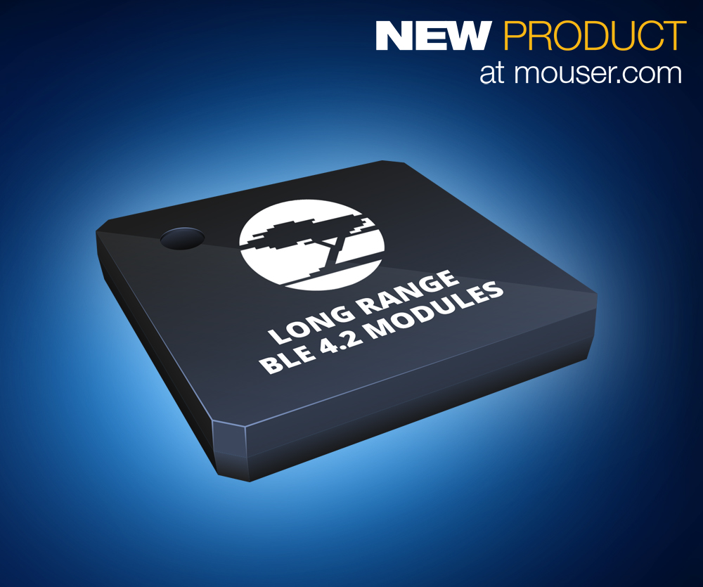 Low-Energy Wireless Modules Offer an Extended Range of up to 400 Meters