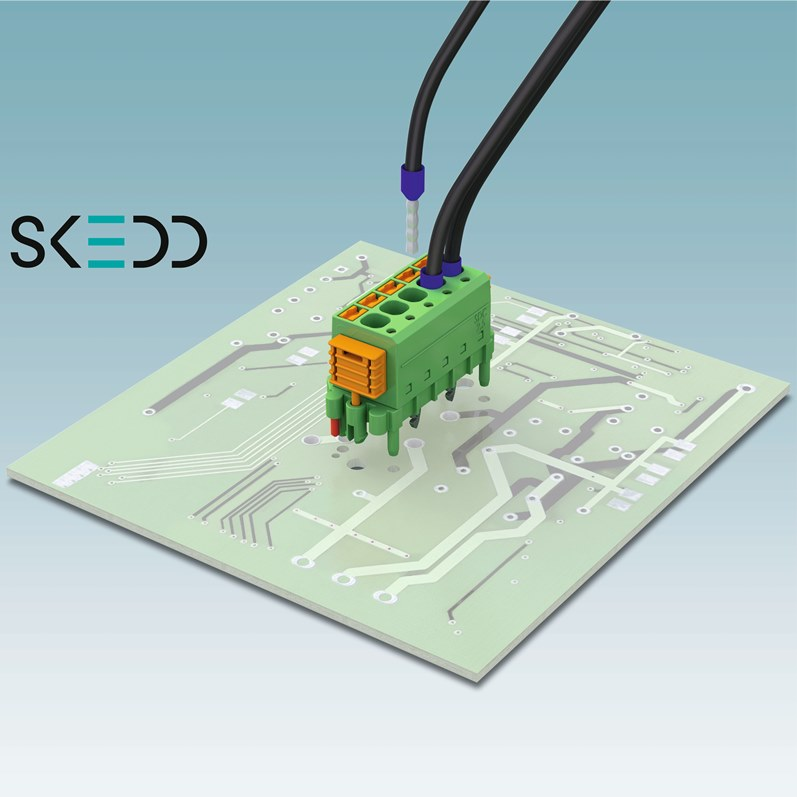 PCB Connectors Plug in Any Position, No Tools Required