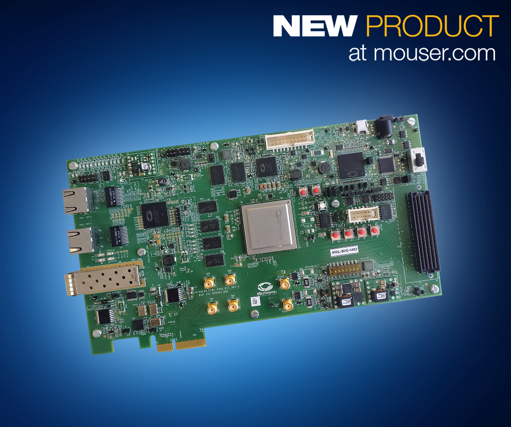 Mouser Now Offering Highly Anticipated Microsemi PolarFire FPGA Evaluation Kit