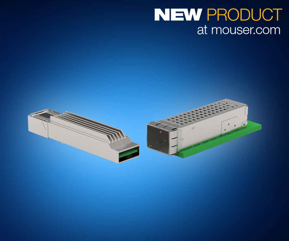 TE Connectivity's microQSFP Interconnects for Next-Gen Data Center Infrastructures Now Available from Mouser
