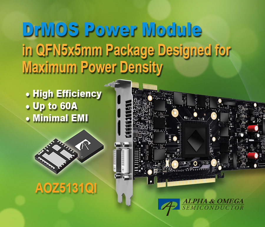 5mm x 5mm Power Module Delivers up to 60A