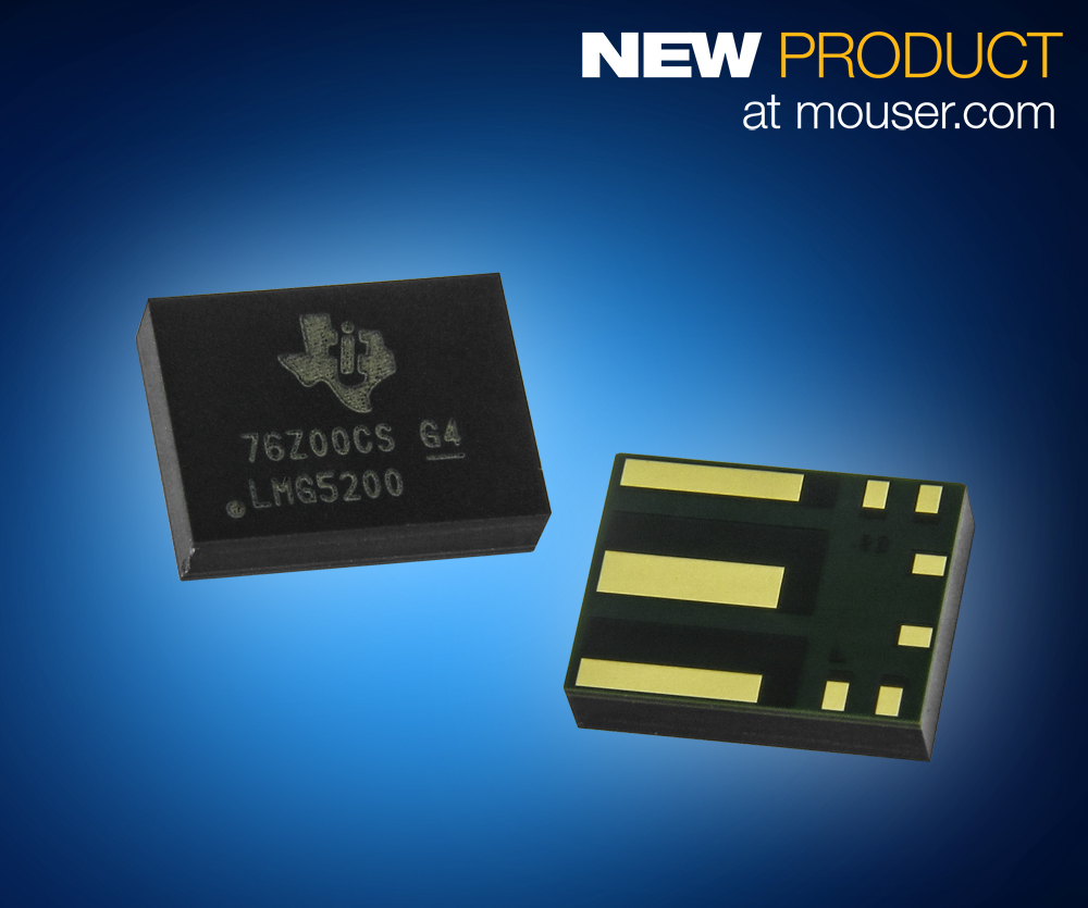 Texas Instruments LMG5200 80V GaN Power Stage Now Shipping from Mouser Electronics